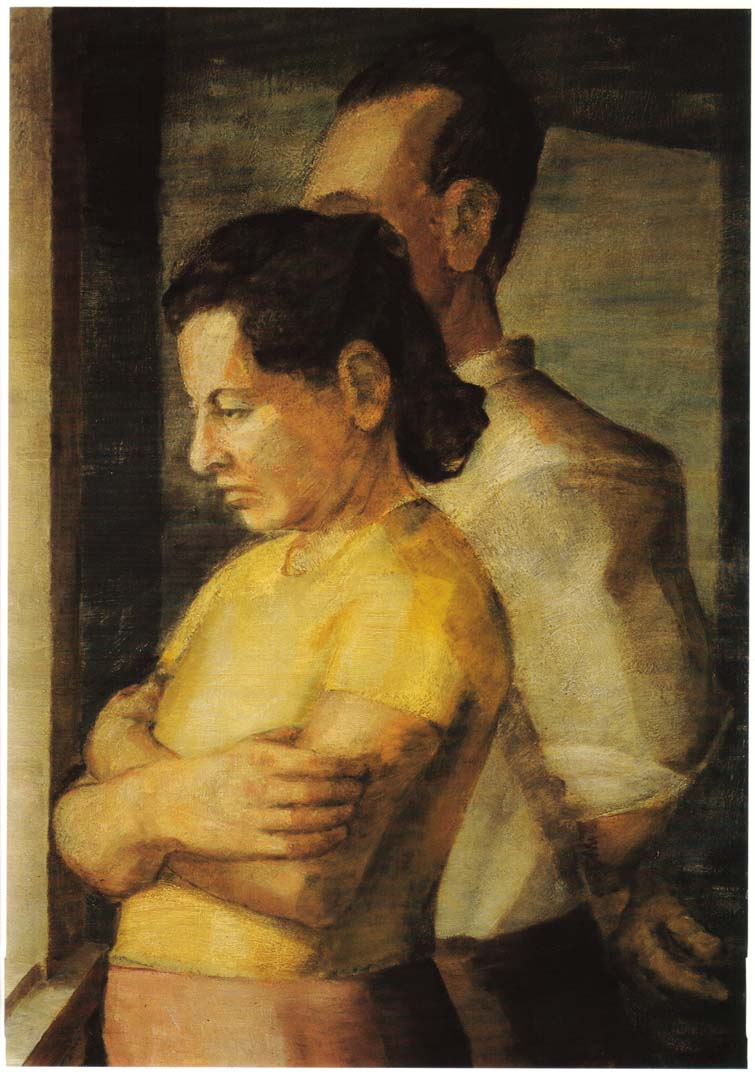 1943 Double Portrait of the Artist's Parents Oil on masonite 25 x 18