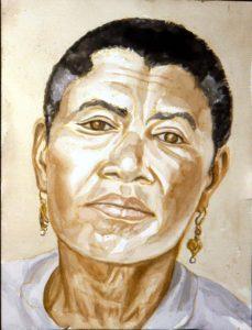 1994 Portrait of Mrs. Baker Watercolor 18 x 24