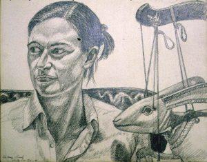 1997 Portrait of Amy Deldeo Pencil 11.25 x 15