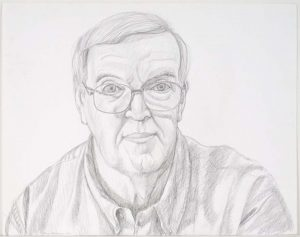 2003 Portrait of Howard Place Pencil 18.75 x 23.875