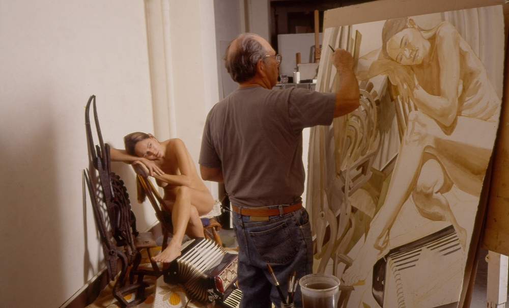 Philip in Studio Painting, by Jerry Thompson, 1993