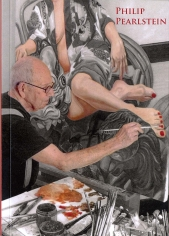 Cover photo for the book showing Philip Pearlstein Painting