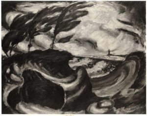 1940 Storm on Lake Erie Oil on board 16.75 x 19.875