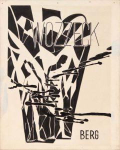 1949 Image 49 Wozzeck Berg Poster Paint on Board 10 x 8