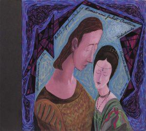 1949 Romeo and Juliet Casein on Board 12.5 x 14