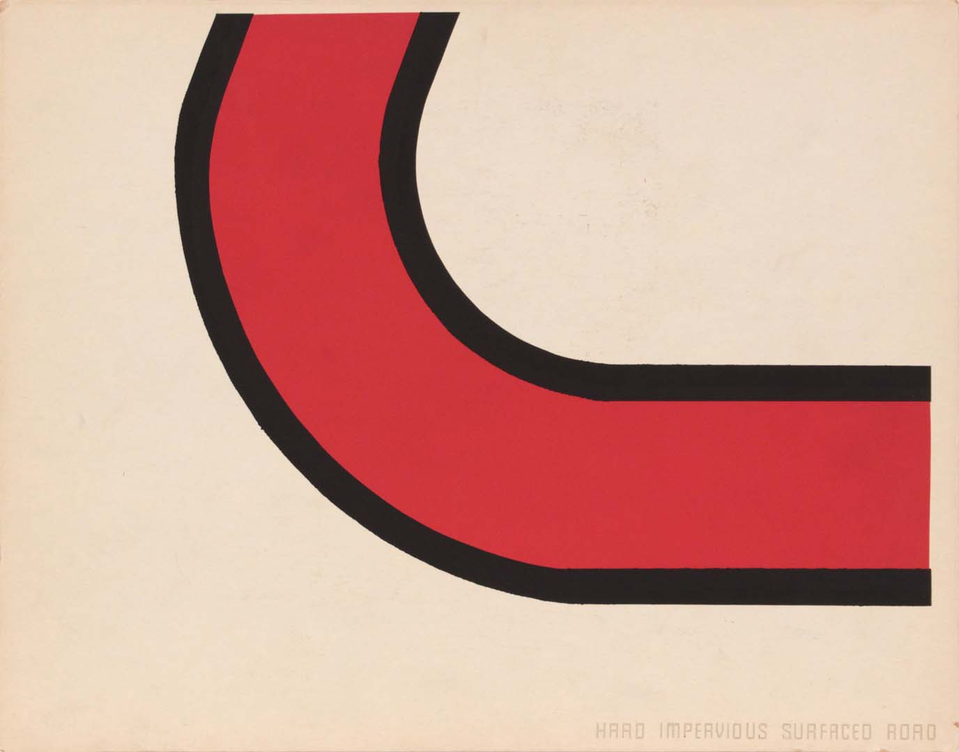 1944 Image 62 (Front Hard Impervious Surface Road) Silkscreen 11 x 14