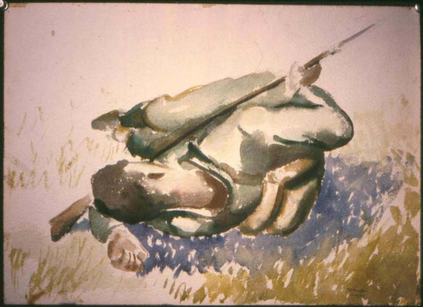 1943 Soldier Resting (Study for Soldiers Resting