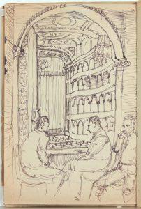 1944 Rome Italy XVI Teatro Reale Dello'pera Program Pen and Ink on Paper 8.125 x 5.50