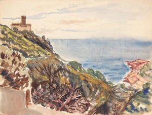 1945 Marina Di Pisa II Watercolor 9 x 11.875