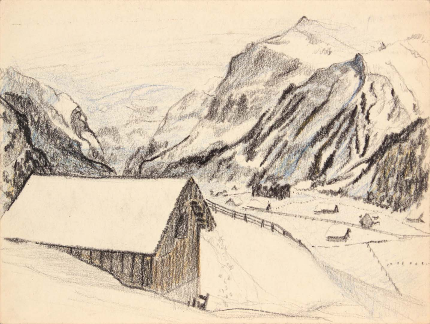 1945 Switzerland I Crayon 9 x 11.875