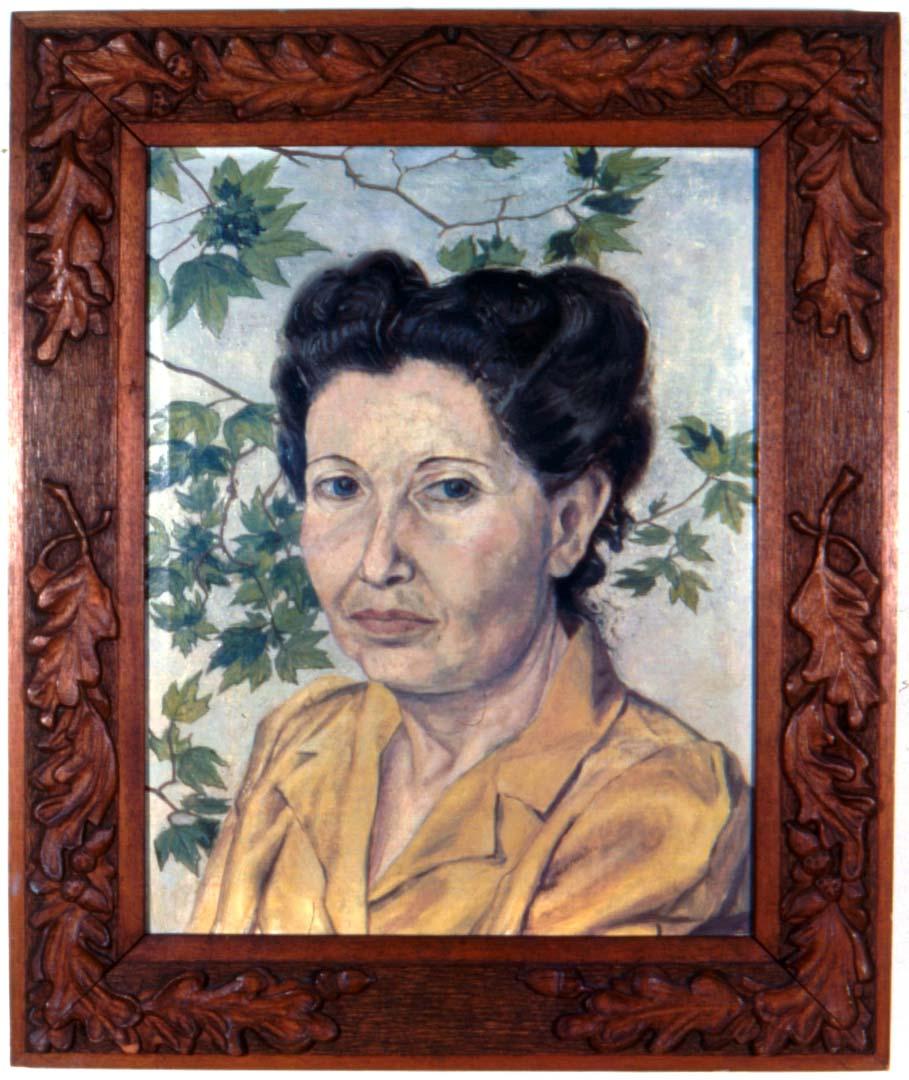 1946 Portrait of Artist's Mother oil 17 x 13