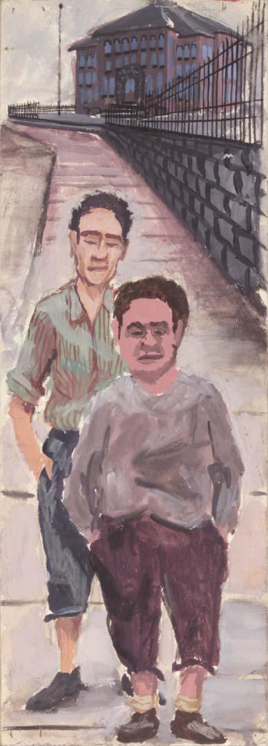1948 NT (Pittsburg Thugs) Casein on Board 11.625 x 4