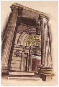 1948 St. Nicholas Greek Orthodox Church Conte Crayon and Chalk on Paper 17.625 x 11.75