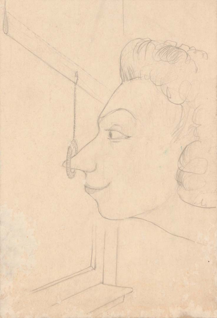 1948 The Artist's Aunt Graphite on Board 12 x 9.25