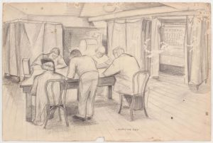 1949 Election Day Graphite on Paper 10.0625 x 15.1875