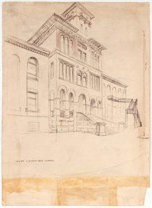 1949 Holme Elementary School Graphite on Paper 13.625 x 9.875