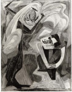 1949 The Mahler Theme (The Bird's Song) Casein on masonite 30.5 x 24