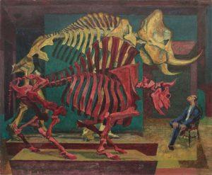1948 Contemplation Casein on Masonite 25 x 30
