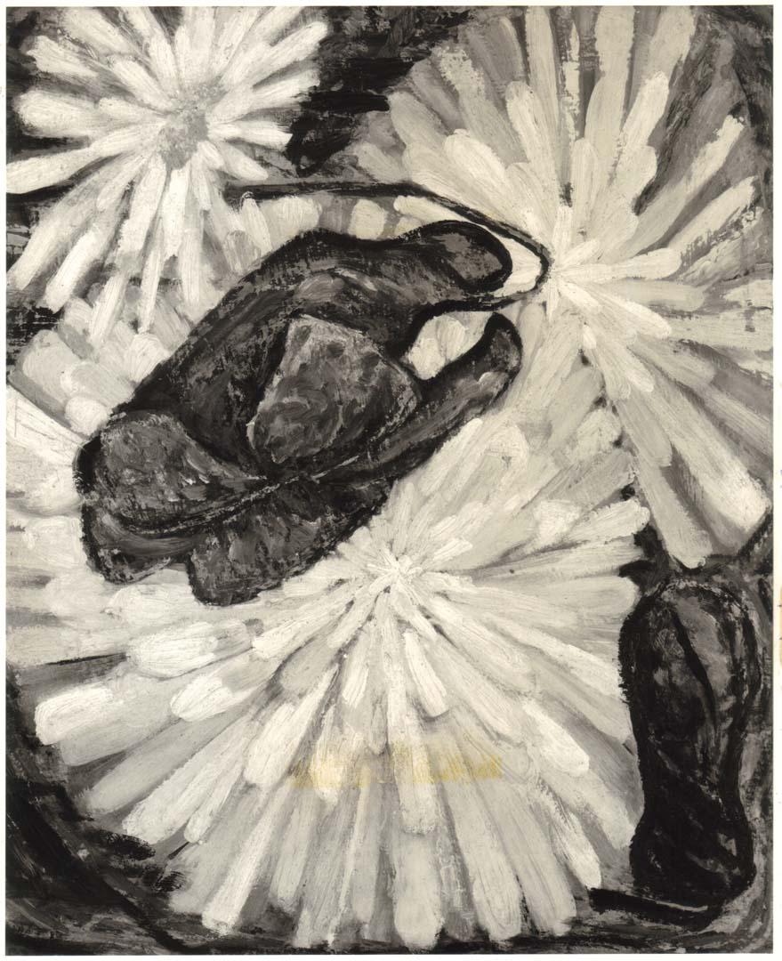 1948 Daisy and Violet Casein on masonite 23 x 28