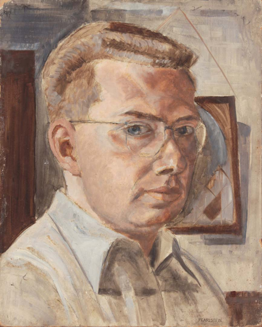 1948 Self Portrait Casein on Board 20 x 16