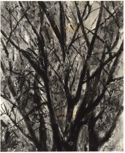 1948 Tree Branches II Oil on Board 20 x 17