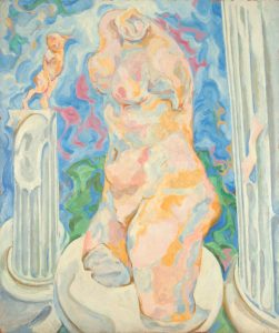 1951 Venus with Columns Oil on Masonite Board 36 x 30