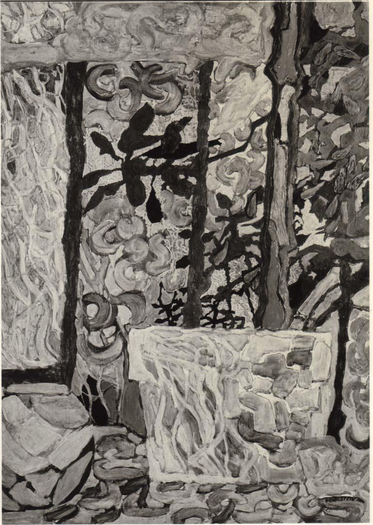 1950 Plants in a Window Casein on Masonite 24 x 18
