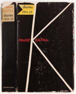 1959 Diaries, Franz Kafka Book Cover 8.25 x 4.50