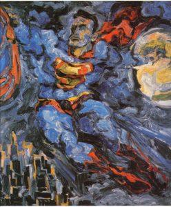 1952 Superman Oil on Canvas 40 x 36