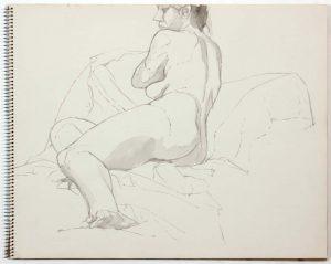 1961 Untitled Wash 14 x 17