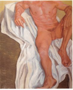 1962 Seated Male Oil on Canvas 44 x 36