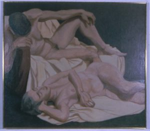 1963 Models in the Studio Oil on Canvas 42 x 48