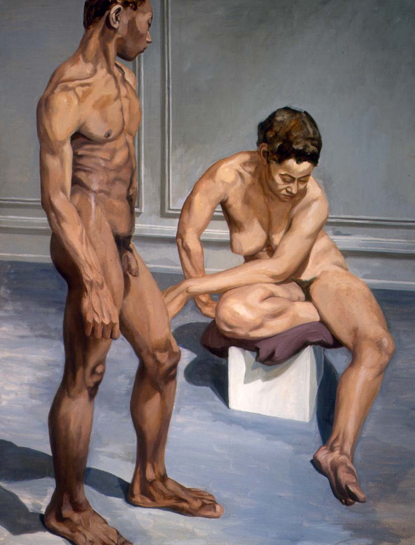 1963 Two Figures Oil on Canvas 70 x 54