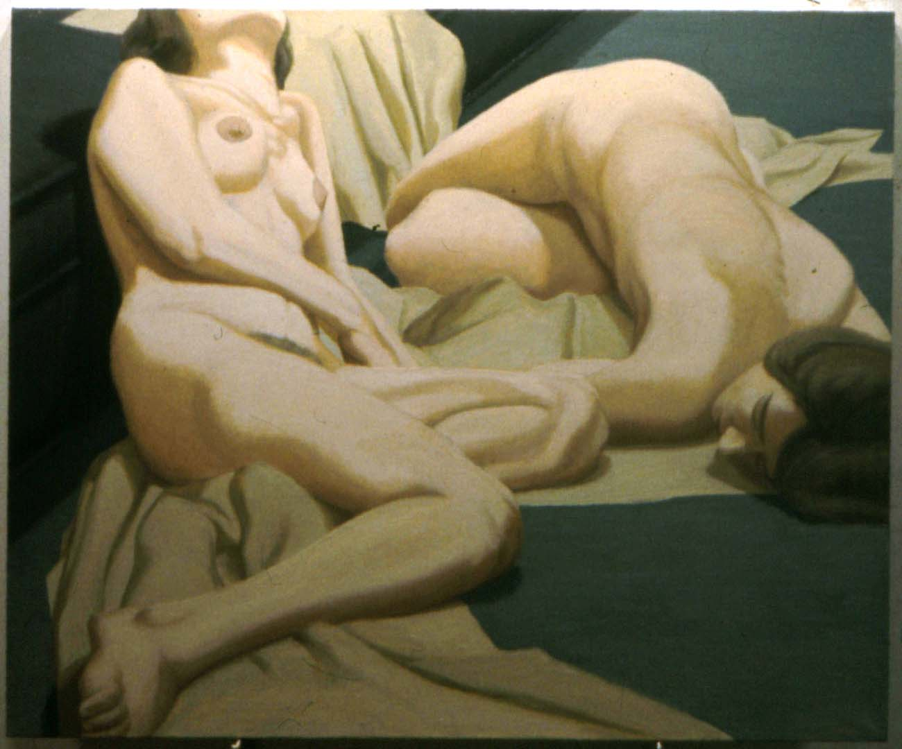 1963 Two Nudes Oil on Canvas 36 x 44