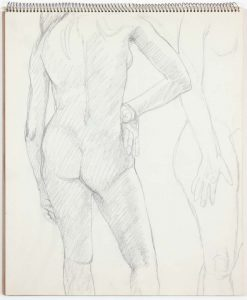 1963 Untitled Graphite 14 x 17