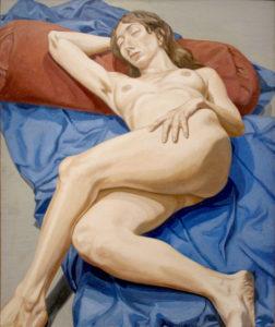 1964 - Nude on blue drape - Oil on Canvas- DimensionsUnknown