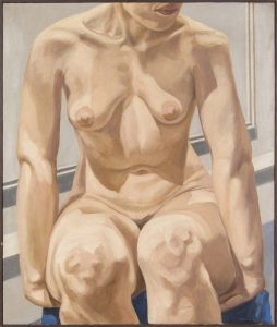 1965 Seated Female Nude Oil on Canvas 30 x 25