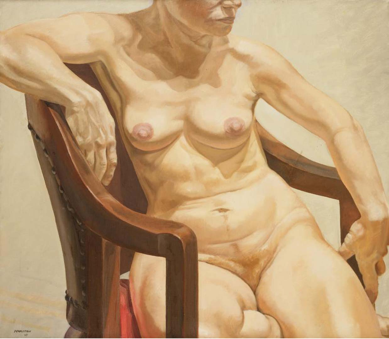 1967 Model Seated on Chair Oil on Canvas 26 x 30