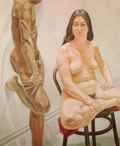 1969 - Standing Male SittingFemale Nudes - Oil on Canvas- 74x62