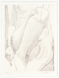 1976 Small Nude Aquatint Etching on Paper 8 x 6