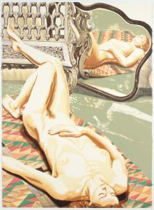 1978 Nude with Iron Bench and Mirror Lithograph on Paper 30.1875 x 22.5