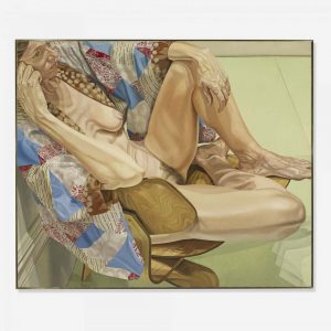 1979 Model In Kimono On Eames Chair Oil on Canvas 60 x 72