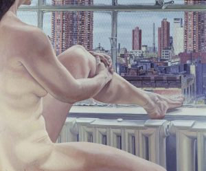 1985 Nude and New York Oil on Canvas 60 x 72