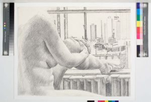 1985 Nude and New York Pencil 23 x 29