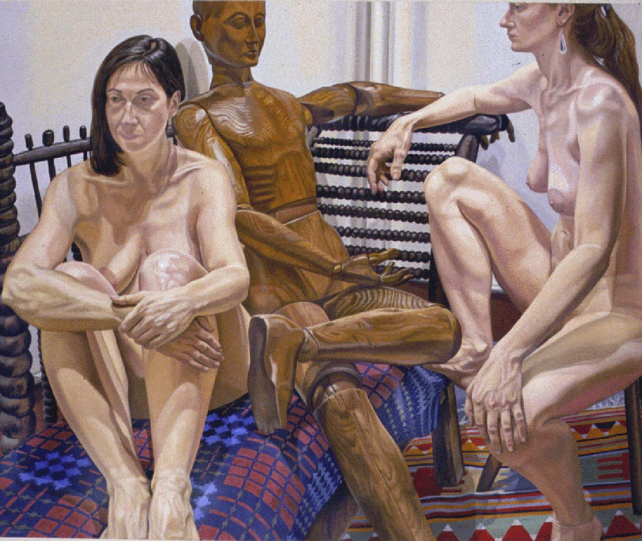 1987 Models with Wooden Mannequin Oil on Canvas 60 x 72