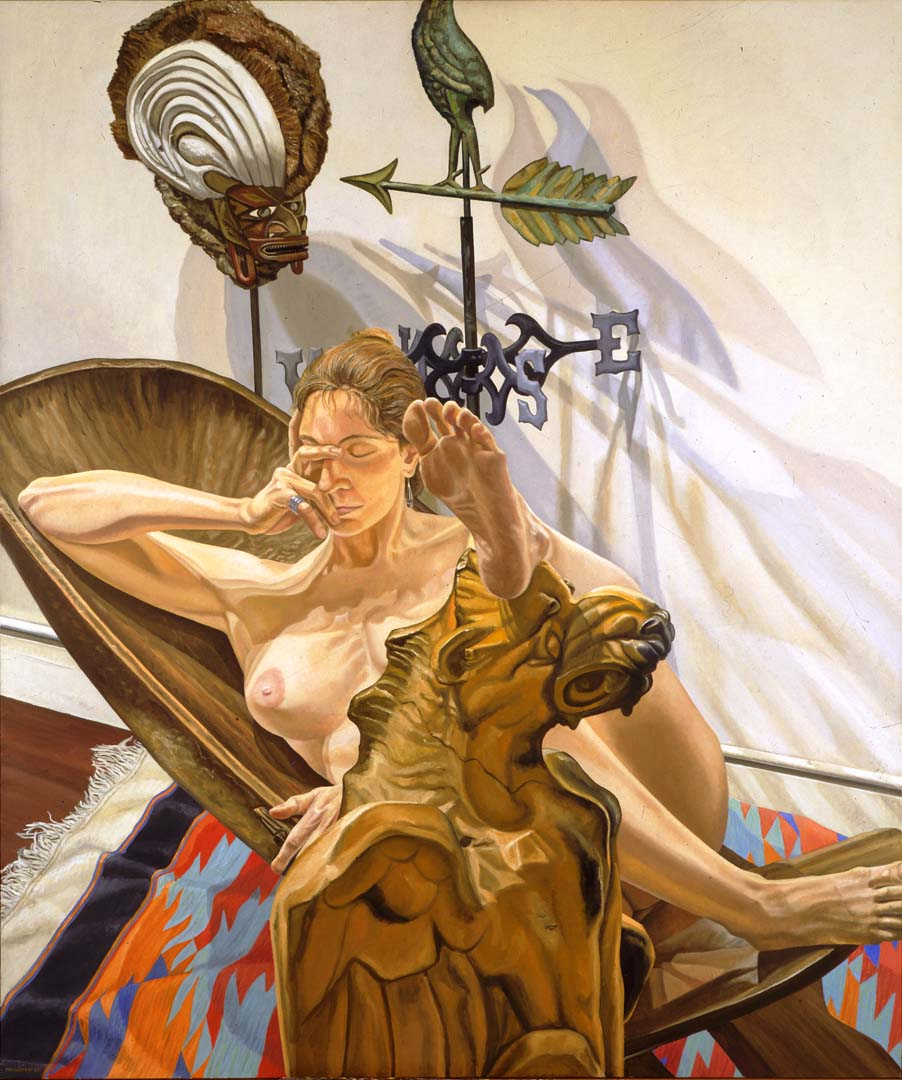 1988 Nude with Griffin Oil on Canvas 72 x 60