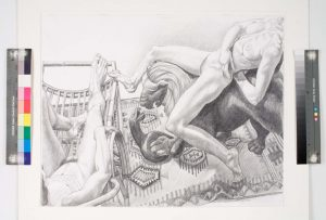 1991 Reclined Nudes with Lion