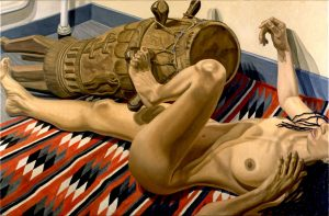 1999 Reclining Nude with African Drum Oil on Canvas 40 x 60