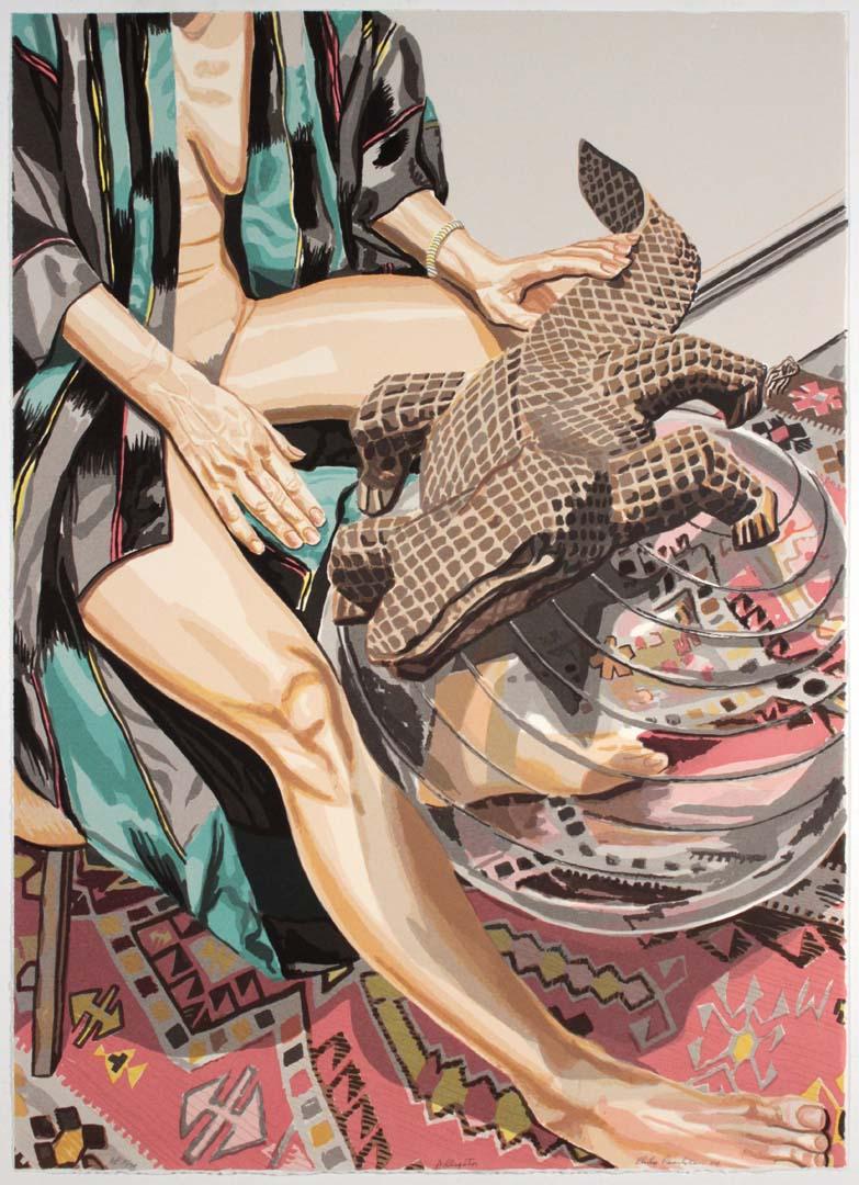 2004 Alligator Silkscreen on Paper 41 x 29.25