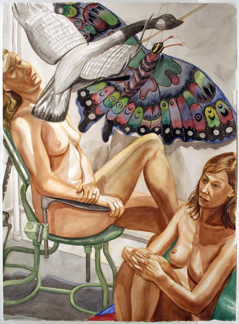 2006 Study for Nudes with Flying Goose